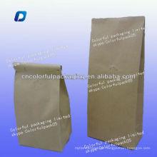 Sacos de embalagem de papel kraft tintie / side-gusset valve sacos de folha de alumínio / saco de feijão de café por atacado
