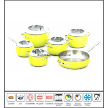 11PCS Stainless Steel Apple Cookware Set
