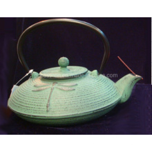 Chinese Embossed Hot Sale High Capacity Cast Iron Teapot with Tripod