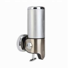 Dispensador de jabón líquido de pared plateado 500ml acero inoxidable + ABS plástico