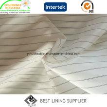 Poliéster preto e branco Men′s terno manga longa forro tecido fornecedor