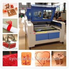Máquinas de corte a laser de madeira Syngood 600 * 900mm para corte de poços de 8mm de espessura
