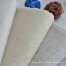 60% Leinen 40% Baumwollgewebe Leinenstoff für Kleidungsstück
