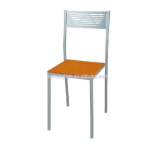 Chaise en châssis en métal simple, chaise à dossier en acier à dossier pour hôtel