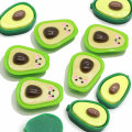 Cute Resin Simulation Fruit Avocado Flatback Cabochon Flatback 3D Resin Avocado Food DIY Craft Hair Decoration Accessory