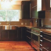 Diseño simple del gabinete de cocina de madera de haya