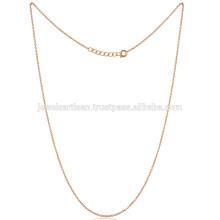 O tamanho padrão mais elegante 18 polegadas Gold Vermeil Brass Chain
