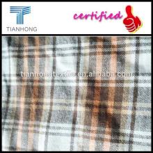 fios tingidos tecidos de flanela com construção/amarelo flanela xadrez tecido/flanela tecido