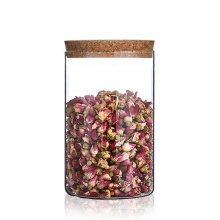 Custom logo 250 Ml Glass Storage Cookie Food Jar With Cork Lid Coffee Glass Jar For Spices
