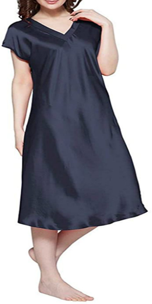 Navy Blue Nightgown Sleepwear