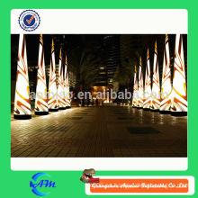 Publicidad gonflable cono inflable luz columna inflable iluminación producto