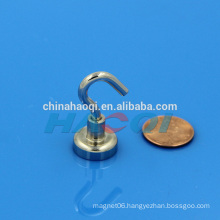 Neodymium pot magnet with hook