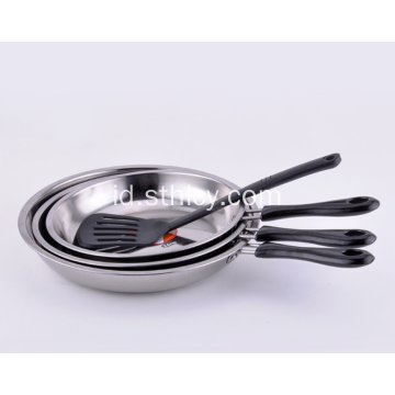 Tiga Set Wajan Stainless Steel