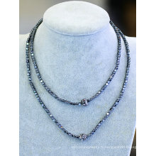 Fashion Environmental Hemitite Beads Necklace Jewelry Bijour