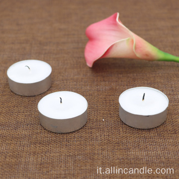8g mini candele tealight in stagno