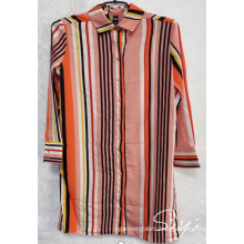 100% Polyester Printed Blouse For Ladies