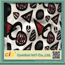 Funiture Use Print And Flocking Design on 0.8mm PU Synthetic Leather