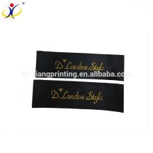 Étiquette faite sur commande de tissu de logo, imprimante écologique d'étiquette d'habillement, étiquette tissée d'habillement