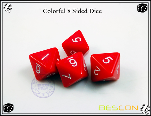 Colorful 8 Sided Dice