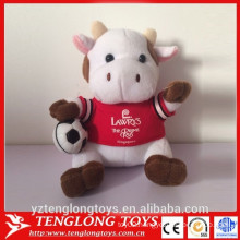 China factory custom plush cow toy cow promotional products