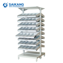 SKH062 Hospital Two-Sided Adjustable Medicine Storage Shelf