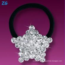 La venda cristalina de lujo del pelo de las muchachas, venda francesa del pelo, accesorios del pelo de las muchachas vendas del pelo de la estrella