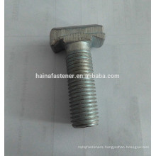 blue white zinc plated T-shaped bolt with socket, customized T bolt, carbon steel customized T bolt with socket