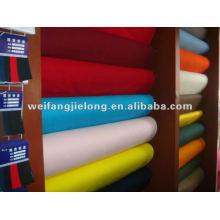 tela teñida popelina de poliéster / algodón para la ropa o forro 45S * 45S 110 * 76 con alta calidad y precio más bajo