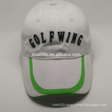 2016 fashion with flat embroidery golf cap made in china