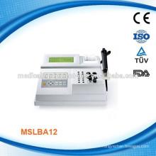MSLBA12W Double channel Analyseur de biochimie portable Machine à coagulation