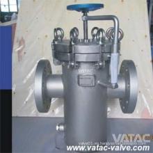 Colador de cesta fabricado en acero con tapón de drenaje