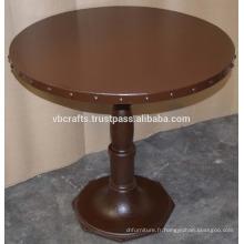 Table ronde à fond rond en fonte industrielle