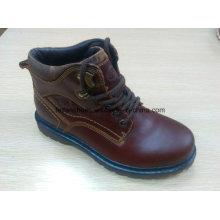 Высокое качество средний-отрежьте ботинки теплые кожаные ботинки акциям (FF616-2)