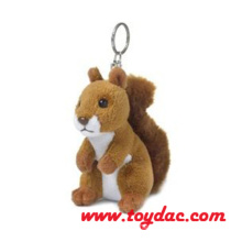 Plush High Fur Squirrel Key Ring