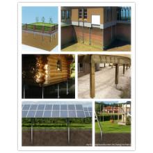 Tornillos de tierra solares galvanizados para solar