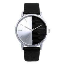 Fashion Dia  Imitation Leather Strap Stainless Steel Back Water Resistant business men watch