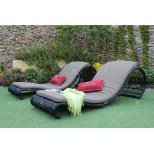 COLECCIÓN EAGLE - Único patio exclusivo de mimbre Sunbed muebles al aire libre