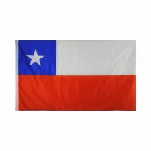 Polyester Chile National Flag Banner 3x5
