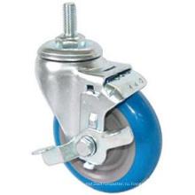 Резьбовой шток PU с боковым тормозом (синий)