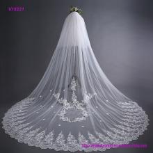 Braut-Spitze-Hochzeits-Schleier-langer Schwanz-Art 3 Meter-Brautschleier mit Haar-Kamm