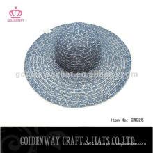Cheap Lady Hat For Promotion beau matériel de fil de chapeau de soleil de plage d'été