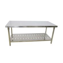 Tables de travail commerciales en acier inoxydable pour cuisine de restaurant