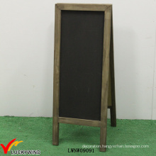 Retro Wood Folding Free Standing Old Fashioned Blackboard