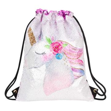 UNICORN REVERSIBLE SEQUIN DRAWSTRING BAG-0