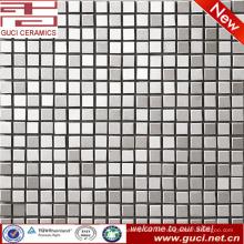 China suministra productos de venta caliente Azulejo de mosaico de acero inoxidable de plata