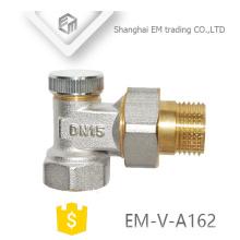 Robinet d'équerre de contrôle de température en laiton nickelé EM-V-A162 DN15