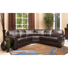 foshan furniture living room chesterfield sofa set collection brown leather sofa XYN2053