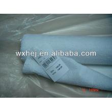 80% algodão 20% poliéster branco terry em estoque para capa de colchão