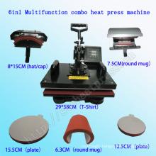 6 in 1 Digital Multifunction Combo Heat Press Machine Multifunction Combo T-Shirt Printing Machine Stc-SD08