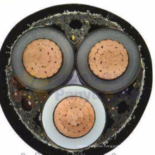 Armoured Underground XLPE insulated 3 cores 11KV 240 sq mm Power Cable